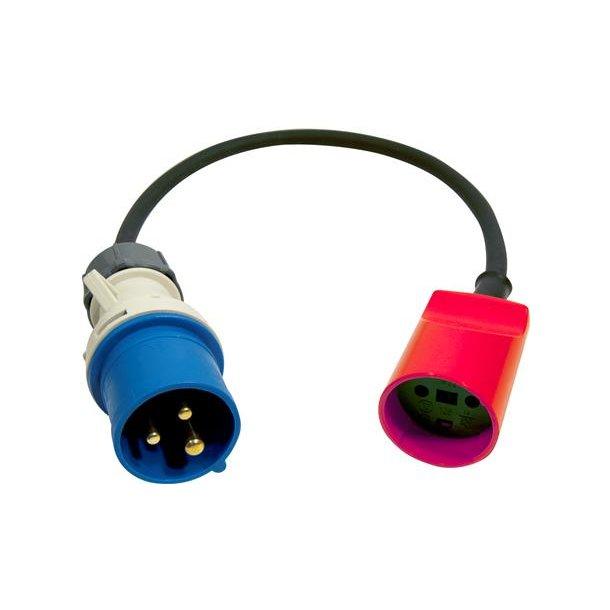 Adapter CEE HAN / DK HUN 33CM
