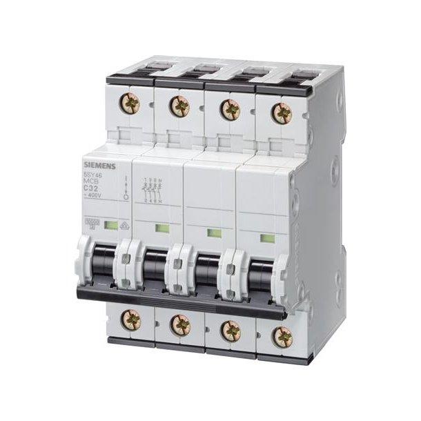 Automatsikring C-Kar, 16A, 3P+N, 6kA