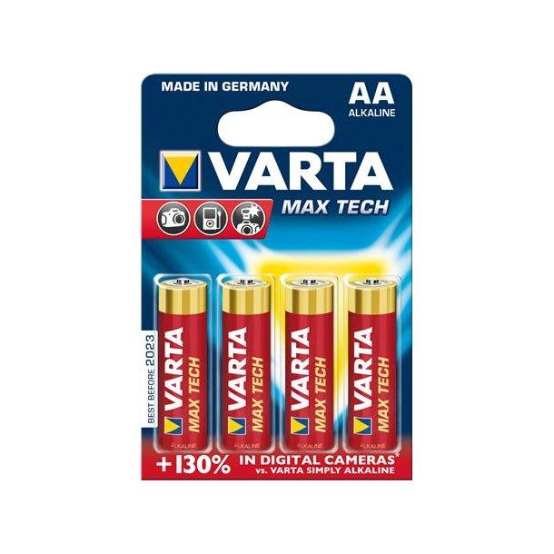Batteri Alkaline AA Max-Tech (=4 stk.)