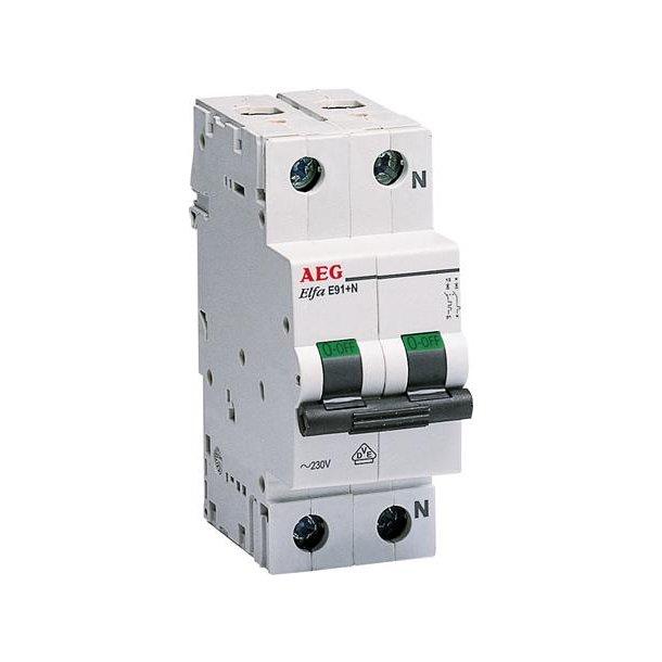 Automatsikring C-Kar, 6A, 1P+N, 6kA