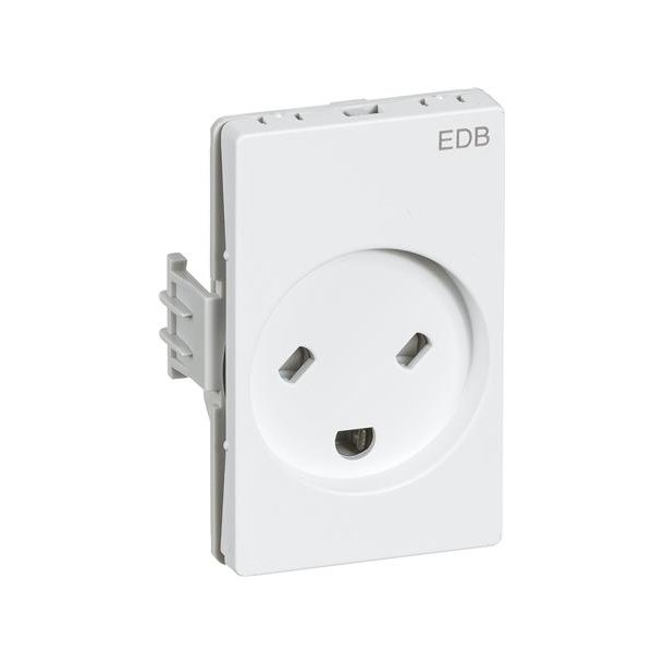 Clicline Stikkontakt EDB 2P Hvid