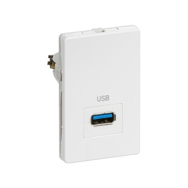 Fuga 1,5M T3 USB 3.0 Udtag Hvid