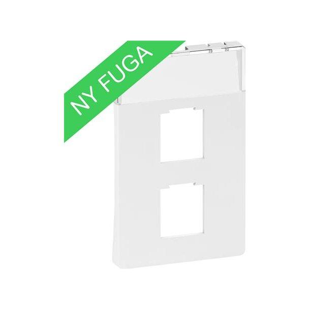 Afdækning Fuga 1/2xRJ45, (8/8), 1½M Hvid