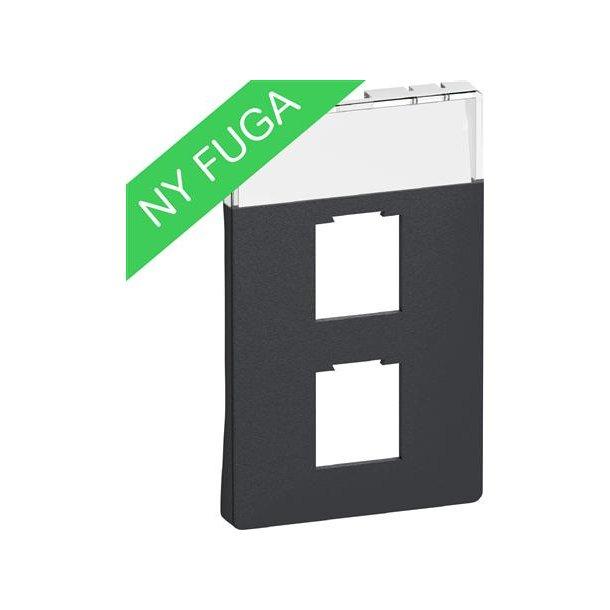 Afdækning Fuga 1/2xRJ45, (8/8), 1½M Kg