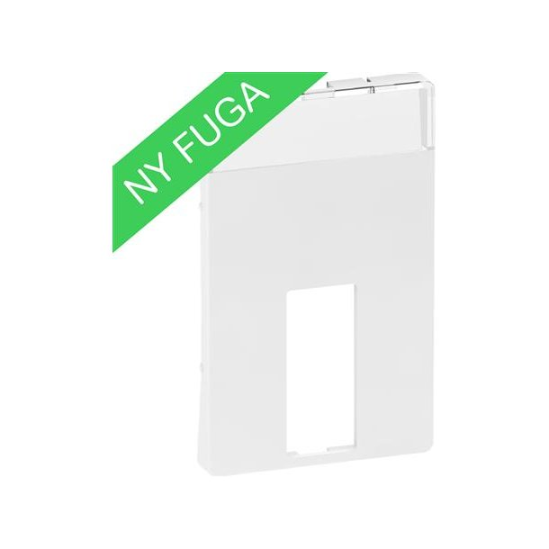 Afdækning Fuga 1xVGA, Db9/Hd15, U/Kon, 1½M Hvid