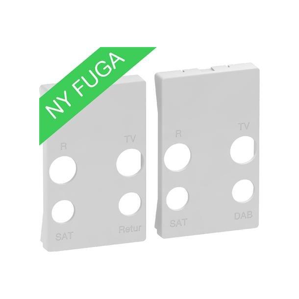 Afdækning Fuga Ant., Td253e+Td254e, 1½M Lysegrå