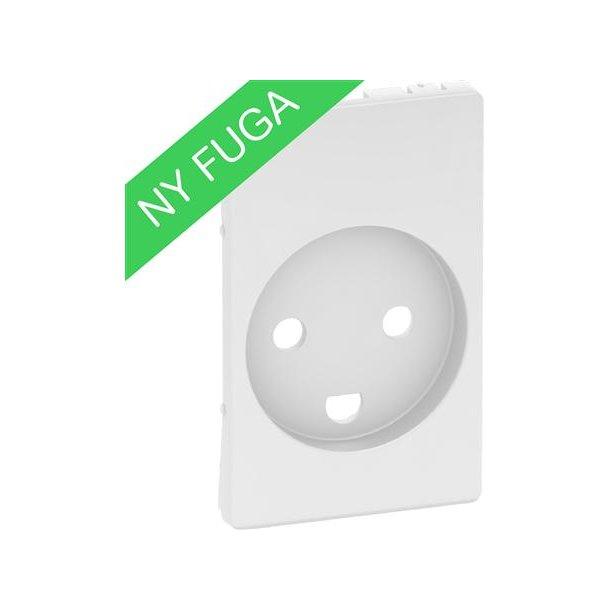 Afdækning Fuga Stikkontakt M/J+Led 1,5M Hvid