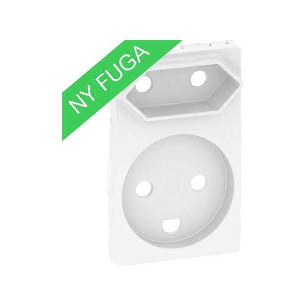 Afdækning Fuga Komb Kl1+Kl2 1,5M Hvid