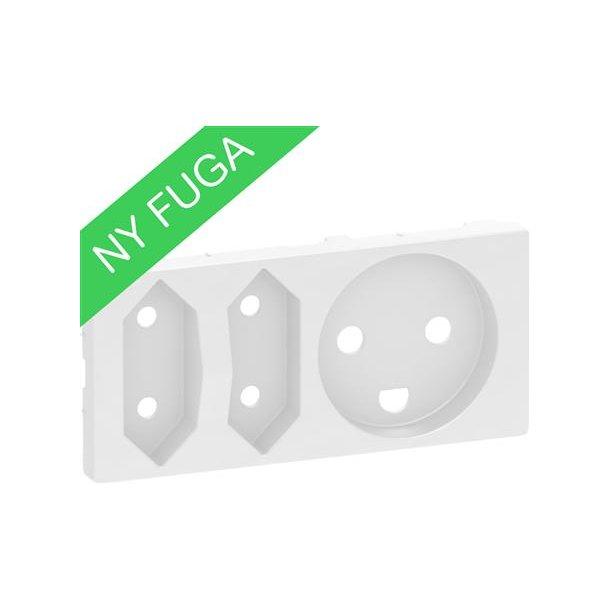 Afdækning Fuga Komb Kl1+Kl2 2 modul Hvid