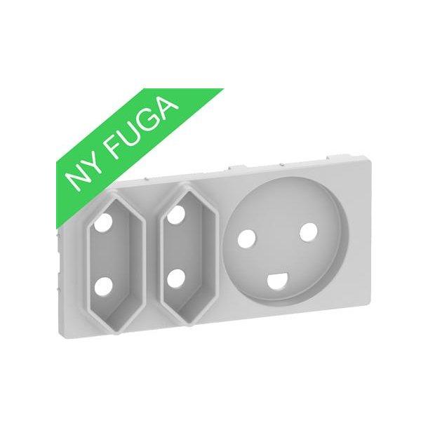 Afdækning Fuga Komb Kl1+Kl2 2 modul  Lysegrå