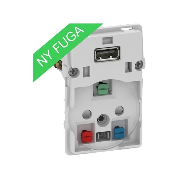 Fuga USB Stikkontakt 1,5 Modul Uden Afdækning