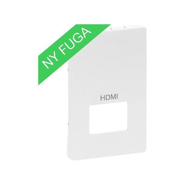 Afdækning Fuga 1xHDMI, , 1½M Hvid