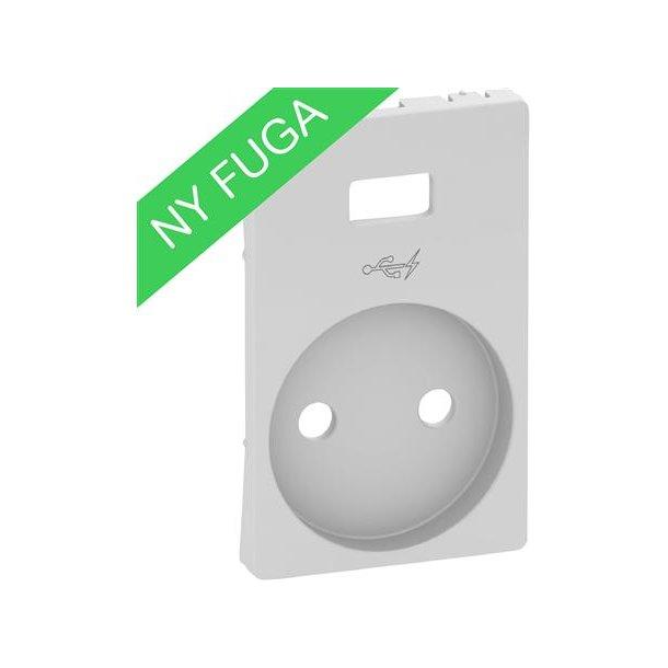Afdækning U/J For Fuga Stikkontakt Med  USB  Lysegrå