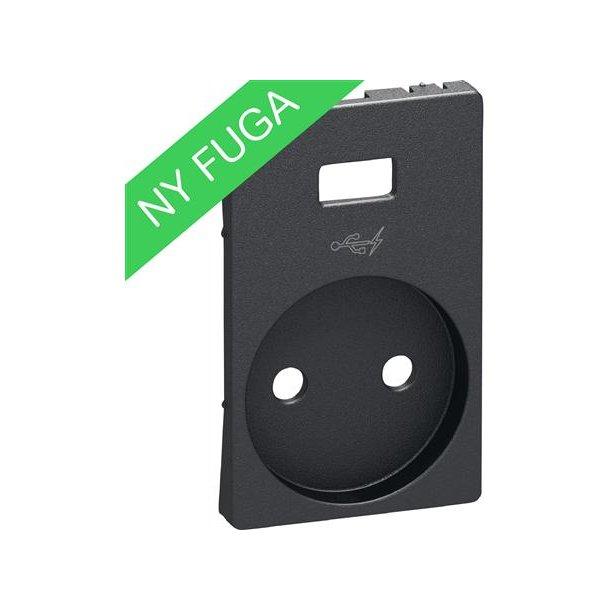 Afdækning U/J For Fuga Stikkontakt Med  USB Koksgrå