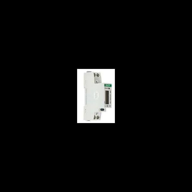 kWh-måler, LCD, 1 fase, kl. B, 45A direkte, MID