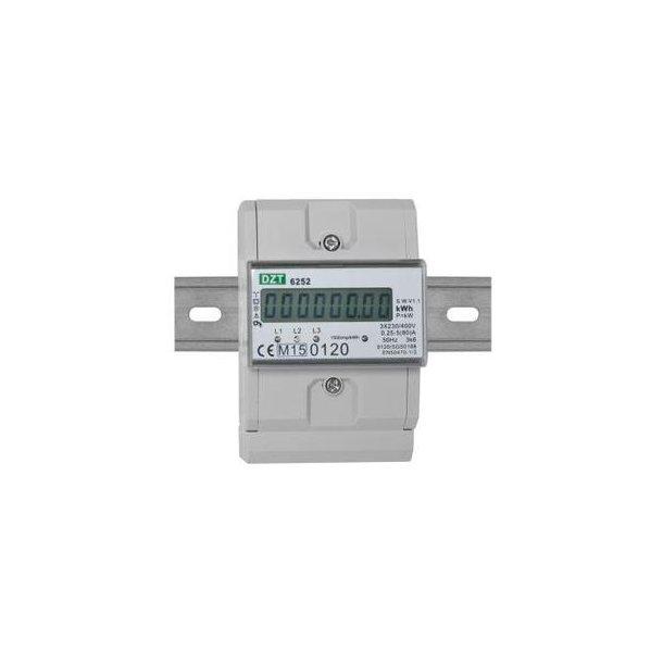 kWh-måler, LCD, 3-faset, kl. 1, 80A direkte, MID